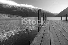 Jetty, Lake Rotoiti, Nelson Lakes National Park, NZ Royalty Free Stock Photo Image Now, Nature Photos, Lakes, New Zealand, Monochrome, National Parks, Royalty Free Stock Photos, Black And White, Art