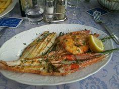Lake Como, Italy: Grigliata mista di pesce divina