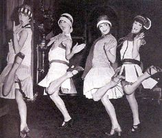 This image from the 1920's shows the partying and rambunctious lifestyle that became prevalent during the period.