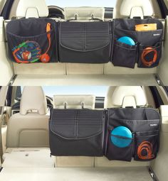 An SUV seat back organizer that packs a lot without using up cargo floor space - and each section zips off, for custom cargo storage. See this innovative car organizer and more, at www.highroadorganizers.com
