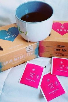 The Tiny Tea & Skin Magic Tea by @yourtea - both amazing herbal tea blends for achieving healthy, glowing skin!