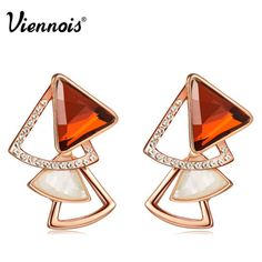 Viennois-Fashion-Rose-Gold-Swarovski-Crystal-Hollow-Earrings-Gift-Box