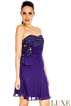 Jewelled Bandeau Chiffon Dress buy here: http://en-gb.savelgo.com/luxurydresses/photos/uncategorized/shortdresses#!/shortdresses/products/uncategorized/jewelledbandeauchiffondress