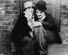 """Edna Purviance Actor   Edna Purviance with Charlie Chaplin in """"A Dog's Life"""""""