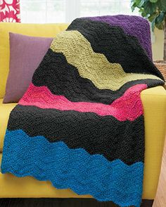 Cozy Ripples for You & Your Home - Catch the chevron craze with the easy fashions and afghans in Cozy Ripples for You and Your Home. Includes 10 projects. Available at www.maggiescrochet.com
