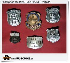 Odznaki amerykańskie USA Police, Detektyw, Security,