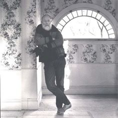 """Edward Gorey at Home"", Barnstable, Massachusetts 1981 by Michael Romanos"