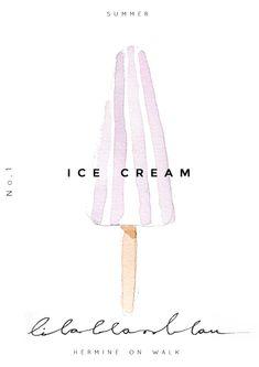 Weil ich Eis liebe habe und wohl fast jeden Kind Probleme hatte sein Eis zu essen, habe ich ein paar Illustrationen von verschiedenen Eissorten gemacht.