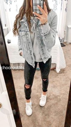 Girls Fall Outfits, Trendy Fall Outfits, Cute Outfits For School, Fall Fashion Outfits, Stylish Outfits, Fall Tomboy Outfits, Casual Teen Outfits, Casual Shopping Outfit, School Appropriate Outfits