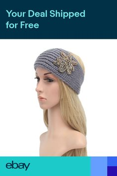 4a55b7dcdb4 Women Ladies Hair Band Knitted Turban Headband Winter Warm Thick Warp  Headwrap