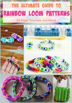 Add some variety to your arm and your crafting with these Rainbow Loom Patterns. These DIY bracelets are easy to make, but they look absolutely stunning. Rainbow Loom Tutorials, Rainbow Loom Patterns, Rainbow Loom Creations, Rainbow Loom Bands, Rainbow Loom Bracelets, Rainbow Loom Charms, Loom Band Bracelets, Rubber Band Bracelet, Easy Yarn Crafts