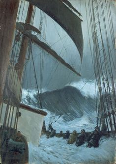 Herbert Everett, The Deck of the 'Birkdale' in a Storm