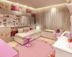 Teenage girl room inspiration inspired young girls bedroom view in Teenage Girl Bedroom Designs, Teenage Girl Bedrooms, Girls Bedroom, Bedroom Decor, Bedroom Furniture, Bedroom Sets, Furniture Ideas, Modern Bedroom, Bedroom Themes