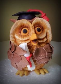 Owl Topper - by giada @ CakesDecor.com - cake decorating website