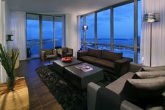 The perfect view of downtown Miami, overlooking the American Airlines Arena from Marquis Residences.