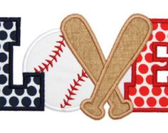 Baseball Applique Embroidery Design for Machine by SewChaCha