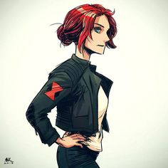 Casual Friday: Black Widow by AndrewKwan on DeviantArt Ms Marvel, Black Widow Marvel, Marvel Women, Marvel Art, Captain Marvel, Marvel Avengers, Marvel Comics, Black Widow Scarlett, Black Widow Natasha