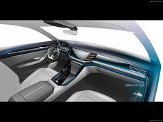 Gallery of Volkswagen Cross Coupe GTE Concept Images Car Interior Sketch, Car Interior Design, Car Design Sketch, Interior Concept, Automotive Design, Interior Design Inspiration, Car Sketch, Volkswagen, Car Ui