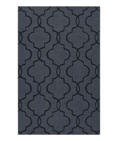 Black Olive Mystique Wool Rug by Surya