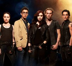 Isabelle, Simon, Clary, Jace, and Alec