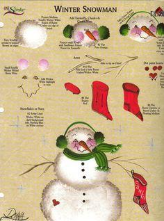 Winter Snowman RTG Worksheet 4 Binder Donna Dewberry | eBay