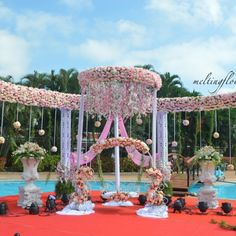 Naming Ceremony Event Recently Decorated : The Golden Palms Hotel & Spa Bangalore. Naming Ceremony Decoration, Ceremony Decorations, Flower Decorations, Best Wedding Venues, Outdoor Wedding Venues, Indian Wedding Decorations, Birthday Decorations, Palms Hotel, Hotel Spa