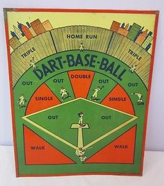 40 Best Vintage Baseball Dart Boards And Games Images Baseball