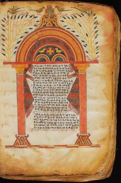 Pages from an Illuminated Gospel. Ethiopia, Highland Region. 1300s.