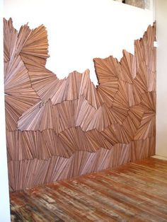Wood shim wall - a work of art