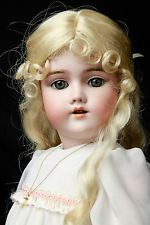 """Rare 22"""" Antique German Bisque Heinrich Handwerck 99 DEP w Pieced Ear Doll 57cm"""