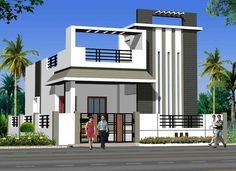 ABHomes Hyderabad Real Estate Developers - Her Crochet House Front Wall Design, Single Floor House Design, Bungalow House Design, Small House Design, Modern House Design, Front Elevation Designs, House Elevation, Hyderabad, Indian House Plans