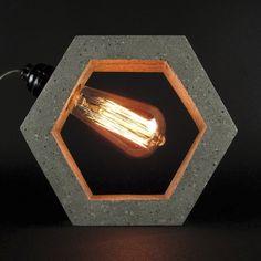 Cement Art, Concrete Crafts, Concrete Projects, Concrete Light, Concrete Planters, Concrete Table, Luminaria Diy, Diy Luminaire, Lampe Decoration
