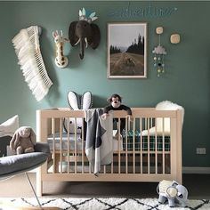 "433 Likes, 21 Comments - Kids Decor / Nursery Decor (@nurserydecor) on Instagram: ""Amazing wall colour and styling via @allybatties ✔️✔️✔️"""