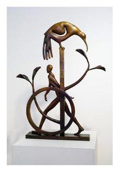 Paul Dibble - Parallel Worlds - cast bronze, ed. of 3 Human Sculpture, Bronze Sculpture, Contemporary Art For Sale, New Zealand Art, Nz Art, Paintings For Sale, Figurative, Statues, Artists