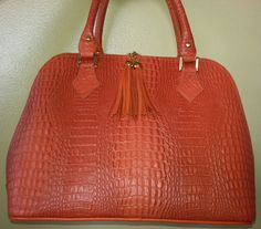 handbag in orange AMORE