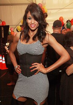 Ciara rocked a black-and-white Betsey Johnson checkered number