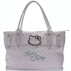 NEW Hello Kitty Quilted PU Leather Shoulder Handbag  is going up for auction at  4pm Tue, May 14 with a starting bid of $10.