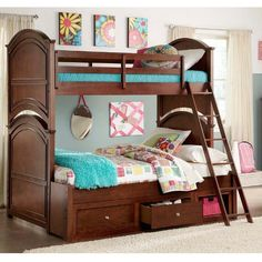 Twin over full bunk bed.
