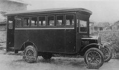 大正15年創立時の箱バス
