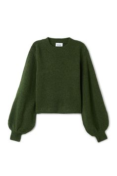 Weekday image 1 of Letiza sweater in Green Dark