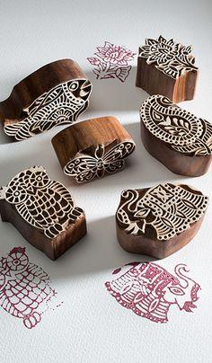 Wooden block print indian printing block