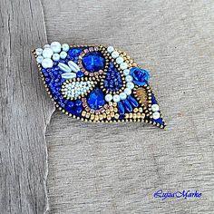 LujzaMarko / Golden blue brošňa