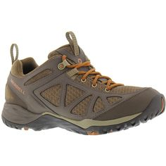 Merrell Siren Sport Q2 Women's Brown Oxford 7.5 W (135 CAD) ❤ liked on Polyvore featuring shoes, athletic shoes, brown, merrell shoes, lace up oxford shoes, air cushion shoes, lace up oxfords and sport shoes
