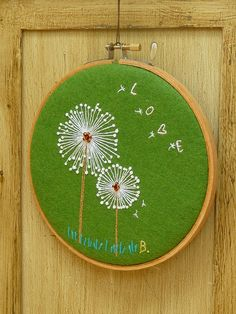 embroidered dandelion love