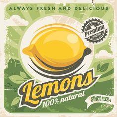 affiche Lemons l.14xH.14 cm