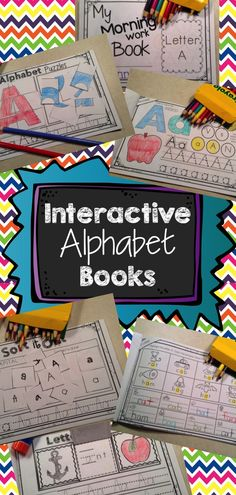 Interactive Alphabet Books! Featured on the front page of TpT.