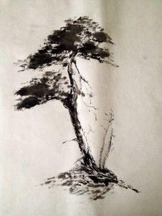 japanese bonsai tree drawing - Buscar con Google