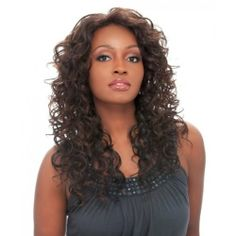 """Sensationnel Synthetic Hair Empress Lace Front Wig - Cindy (1B) by Sensationnel. $29.95. Featuring DX colors, the latest color trend in highlights. EMPRESS LACE FRONT """"CINDY"""" CURLING IRON SAFE. No tape or glue required. Delicate baby hair for natural hairline. Natural hairline for ponytail or updo styles. Sensationnel Synthetic Hair Empress Lace Front Wig - Cindy"""