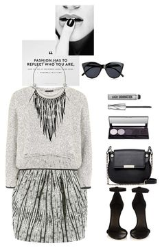 """""""Untitled #350"""" by jovana-p-com ❤ liked on Polyvore featuring L'Agence, Topshop, French Connection, Isabel Marant, Le Specs, The Sak and Bare Escentuals"""
