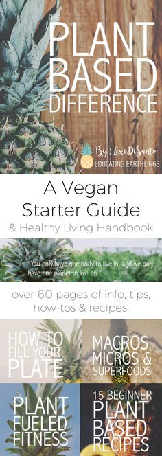 The Plant Based Difference - A Vegan Starter Guide and Healthy Living Handbook, how to go vegan, how to go plant based, plant based diet, vegan diet, plant based starter guide, vegan recipes, plant based recipes, vegan cookbook, plant based cookbook, plant based protein, vegan protein, vegan macros, plant based macros, healthy diet meal prep, vegan meal prep, plant based meal prep